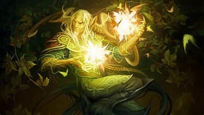 Fantasy Magic Elf Digital Faun Magician Plants