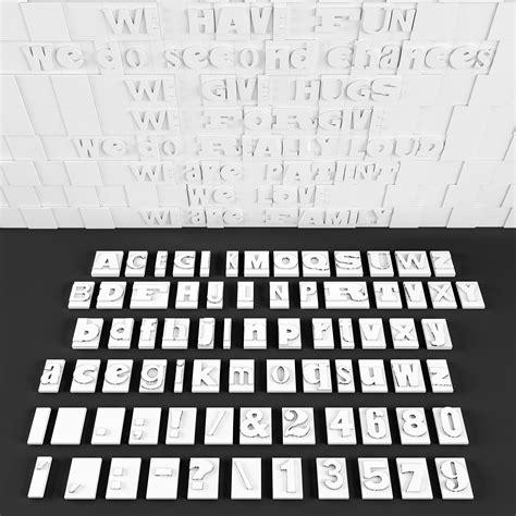 wall letters  model  printable stl cgtradercom
