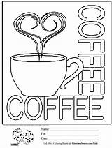 Coloring Pages Coffee Cups Cup Printable Sheets Starbucks Adult Sign Cool Drawing Colouring Activities Sheet Ginormasource Latte Books Bar Menu sketch template
