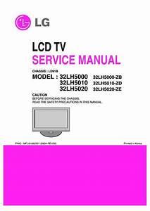 Lg 32lh5000  32lh5010  32lh5020  Chassis Ld91b  Service