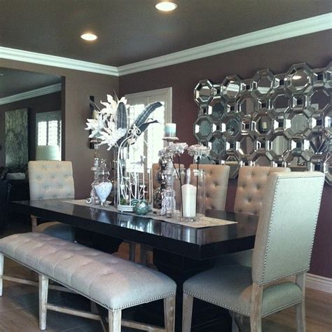 floor mirror in dining room our rencourt dining chairs bench axis floor mirror montecito dining table and orchid cactus