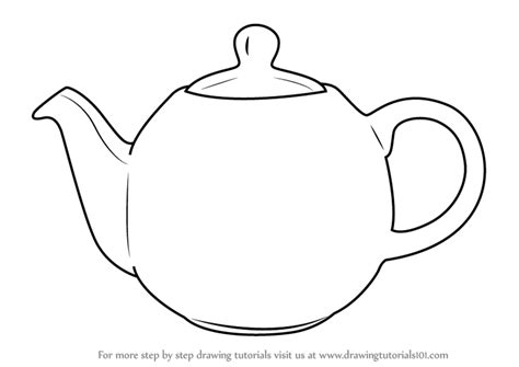 Teapots Colouring Pages Sketch Coloring Page