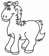 Horse Coloring Pages Realistic Miniature Template sketch template