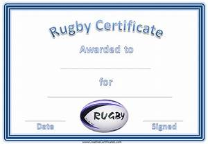 Certificate Of Accomplishment Free Printable Rugby Award Certificate