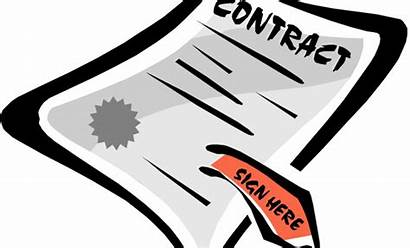 Contract Clipart Signing Agreement Paper Cliparts Clip