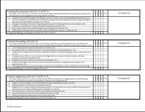 college teacher evaluation form student teacher evaluation form college of education