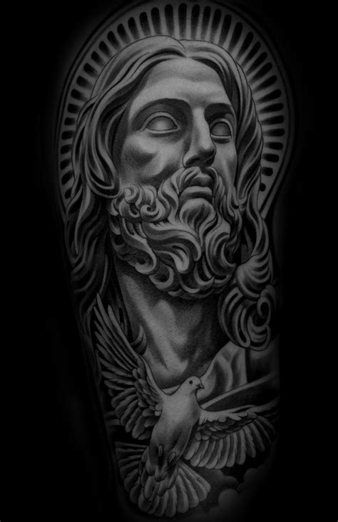 Monarc Studios | Collection | Jesus tattoo, Statue tattoo
