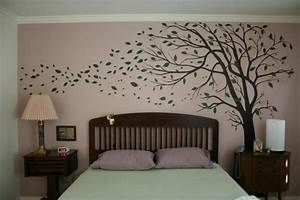 trees painted on walls