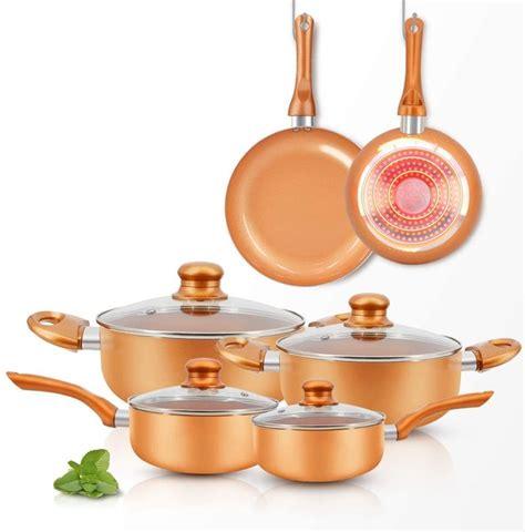 ceramic pots  pans sets shopping  inspiration hunker