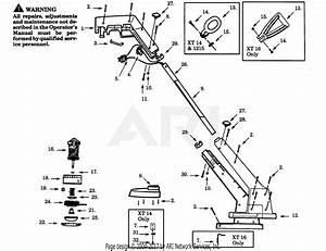 Poulan 1215 Electric Trimmer Parts Diagram For Trimmer