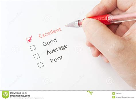 Excellent, Good, Average Or Poor Stock Image  Image 35800421