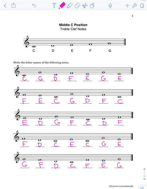 Note Naming Worksheets (pdf)  Piano With Lauren