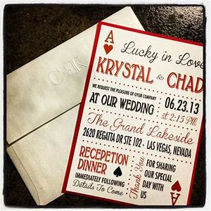 las vegas themed wedding invitations With las vegas inspired wedding invitations