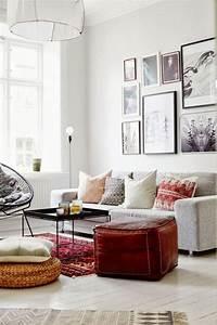 inspiration un tapis pour le salon cocon de decoration With tapis persan avec canapé cubic