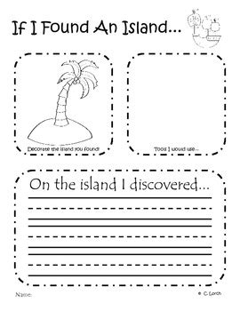 Explorer Writing Prompts  Columbus Day Activity By Kinder Critter Creations