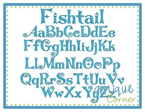 applique corner fishtail embroidery font