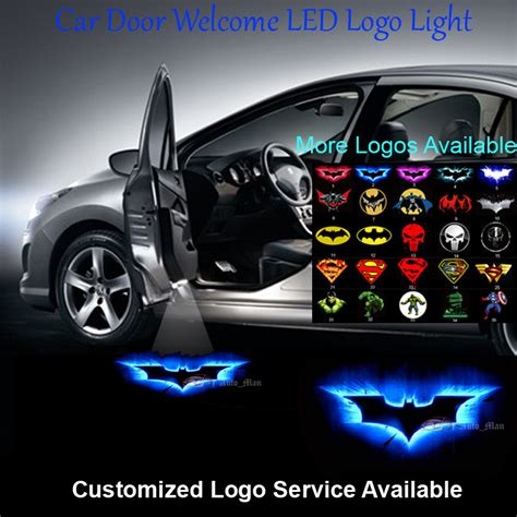 car door lights aliexpress buy 2x 3d blue batman logo