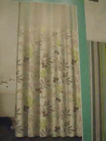Waverly Fabric Curtain Panels by Waverly Wind Floral Stripe Green Grey Fabric Shower