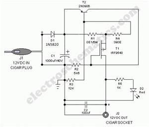 Safe 12v Car Adapter Circuit