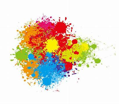 Splatter Paint Colorful Vector Graphic Abstract Splashes