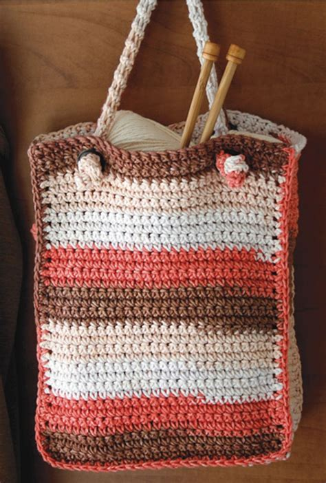 crochet pattern crocheted tote  knotted handle