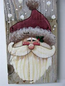 Green Welcome Sign Featuring Santa  Hand Painted On