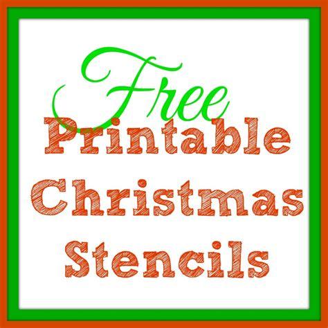printable christmas stencils christmas tree