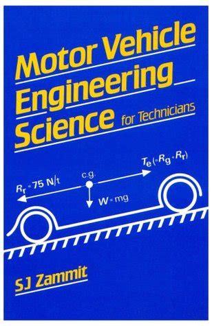 motor vehicle engineering science  technicians