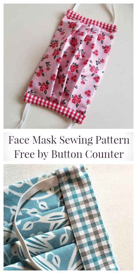 These 5 free face mask patterns use easy to find fabrics and can be sewn up in just a few minutes. Fabric Face Mask Free Sewing Patterns + Video | Fabric Art DIY