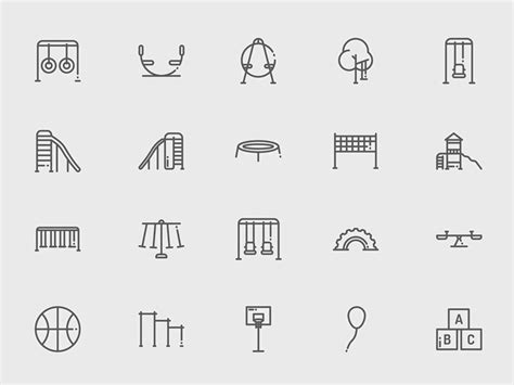 playground and icons sketch freebie free