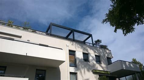 bureau d ude structure lyon pose d 39 une pergola bioclimatique sur une terrasse d
