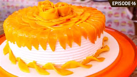 learn     beautiful eggless mango cake part
