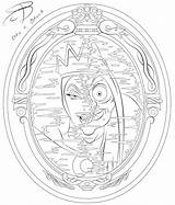 Coloring Evil Queen Deviantart Disney Snow Rcbrock Drawing Adult Adults Villains Colouring Drawings Fairy sketch template