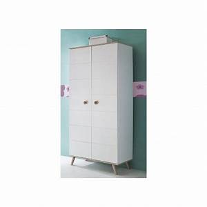 Armoire Enfant Blanche : armoire enfant 2 portes blanche et ch ne cbc meubles ~ Teatrodelosmanantiales.com Idées de Décoration