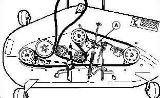 john deere lt belt diagram replacing mower drive belt