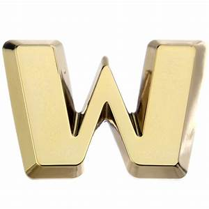 luxbling car chrome 3d letter gold w w ebay With gold adhesive letters