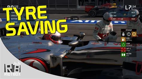 F1 2013 Tyre Saving Setup