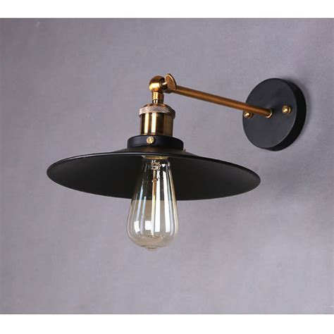 industrial retro wall light sconce chrome l black