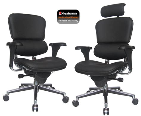 ergohuman leather ergonomic office chair leather office