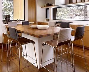 petite cuisine ilot central deco maison moderne With table ilot de cuisine
