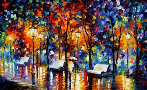 художник leonid afremov радуга дождя
