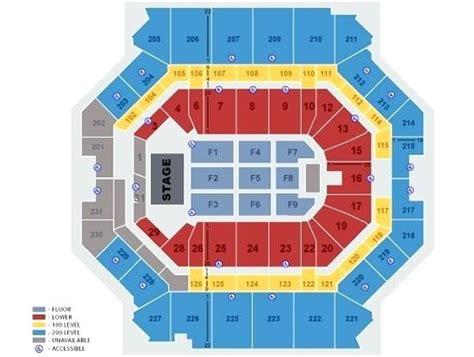 Bridgestone Arena Seating Chart With Rows