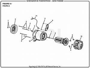 Homelite Ps5000b Series 5000 Watt Generator Parts Diagram