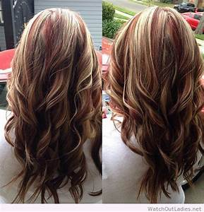 Red highlights with blonde and brown lowlights – Watch out ...