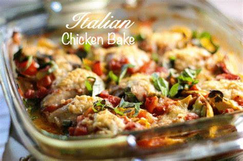 easy cfire oven recipes italian chicken bake laughing spatula
