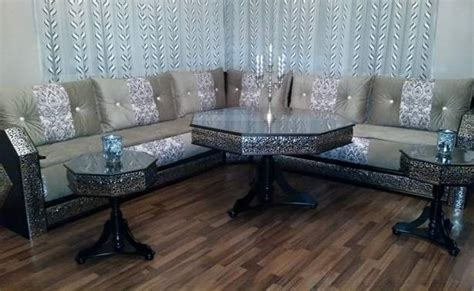 design des chambres à coucher étonnant salon marocain blanc argenté style moucharabieh