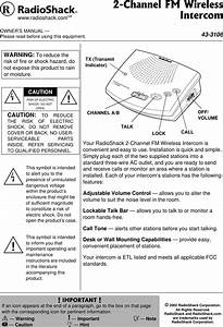 Radio Shack 43 3106 Users Manual