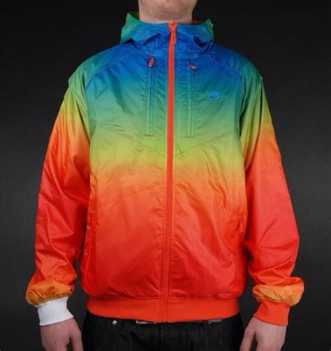 colorful windbreakers jacket rainbow windbreaker nike wheretoget