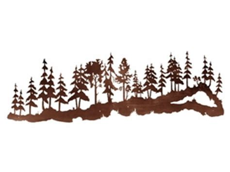 Metal Pine Tree Wall Art - Elitflat