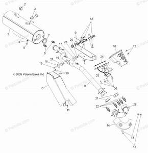 Polaris Side By Side 2010 Oem Parts Diagram For Engine  Exhaust  All Options
